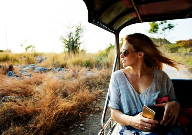 girl on safari