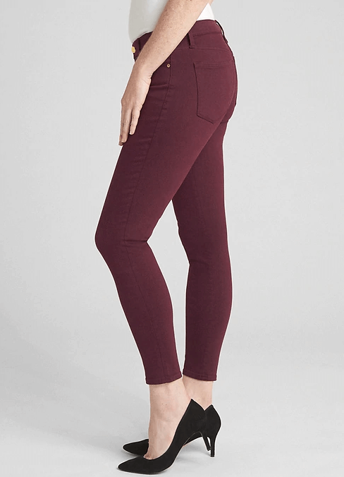 red gap jeans