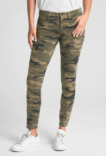 camo print jeans