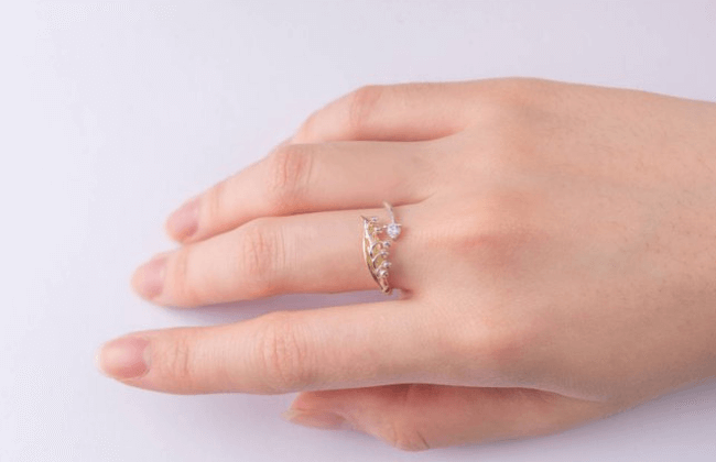 Lily of the Valley Diamond Ring