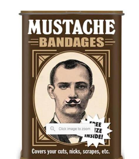mustache bandaids