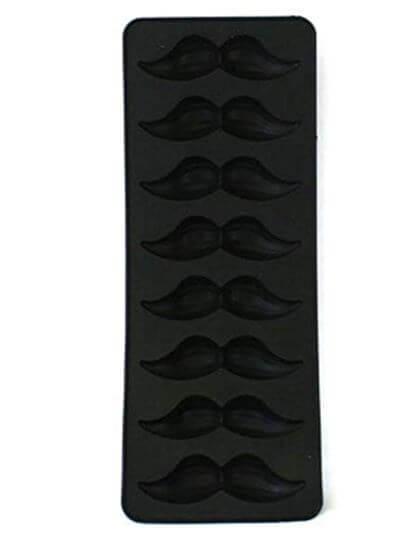 mustache icecube tray