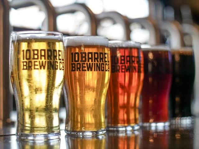 beers in glasses