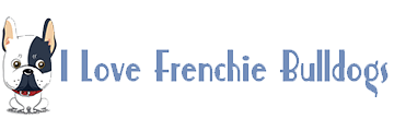 I Love Frenchie Bulldogs logo