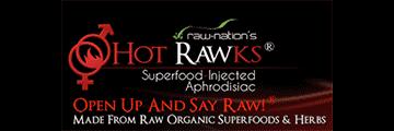 HOT RAWKS logo