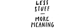 Less Stuff - More Meaning logo